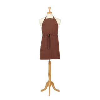 Two Pocket Brown Cotton Canvas Chef's Apron