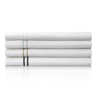 MALOUF Clean and Crisp Feel Cotton Percale Sheet Set