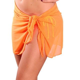Dippin' Daisy's Neon Orange Short Mesh Sarong