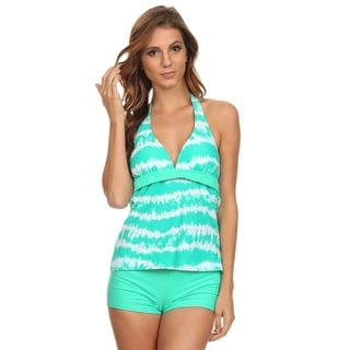 Dippin' Daisy's Mint White Tankini with Boyshorts