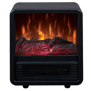 Duraflame CFS-300-BLK Portable Electric Personal Space Heater Cube with Electric Fireplace