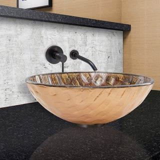 VIGO Playa Vessel Sink and Olus Faucet in Antique Rubbed Bronze Finish