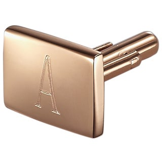 Visol Reza Personalized Rose Gold Metal Cufflinks