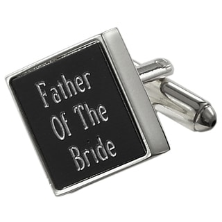 Visol Grove Black Matte Square Father of the Bride Cufflinks