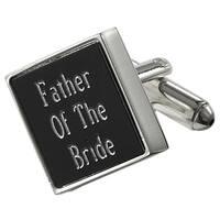 Visol Grove Black Matte Square Father of the Bride Cufflinks