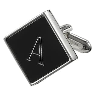 Visol Grove Personalized Black Matte Square Cufflinks|https://ak1.ostkcdn.com/images/products/10669674/P17734401.jpg?impolicy=medium