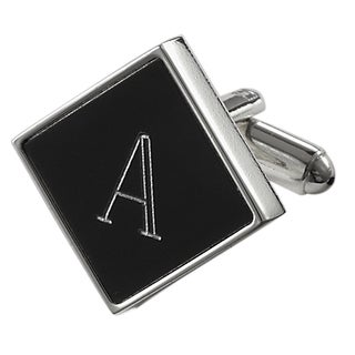 Visol Grove Personalized Black Matte Square Cufflinks (More options available)