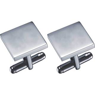 Visol Carvel Stainless Steel Square Cufflinks