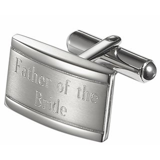 Visol Taurus Brushed Stainless Steel Father of the Bride Cufflinks