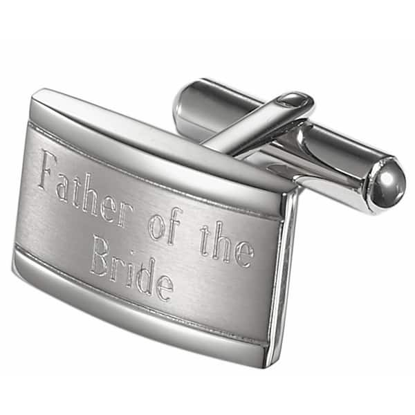 Shop Visol Taurus Brushed Stainless Steel Father Of The Bride Cufflinks On Sale Overstock 10669696