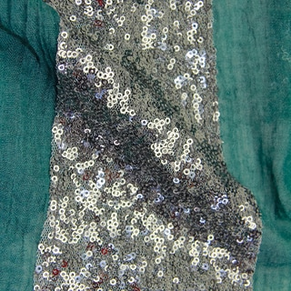 Saachi Women's Sequin Embroidered Shimmer Scarf (China)