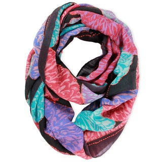 Saachi Women's Wool Blend Floral Embroidery Loop Scarf (India)