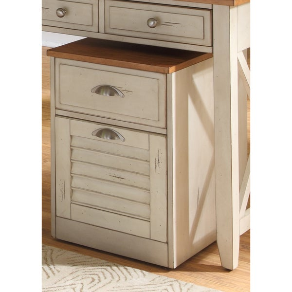 Havenside Home Onemo Antique White and Natural Pine File Cabinet - Shop Havenside Home Onemo Antique White And Natural Pine File