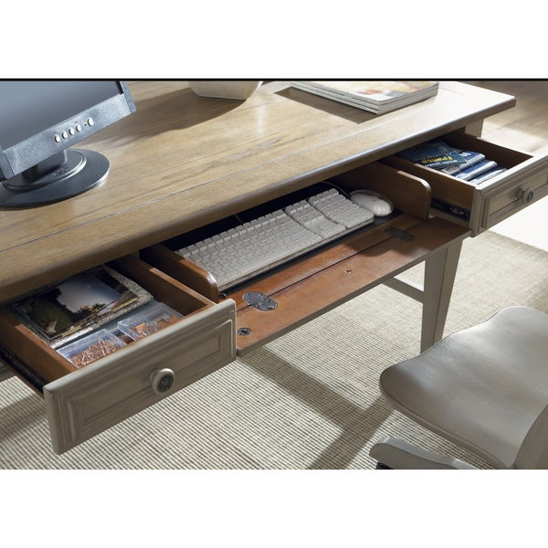 Bungalow Driftwood And Taupe Jr Executive Desk Free