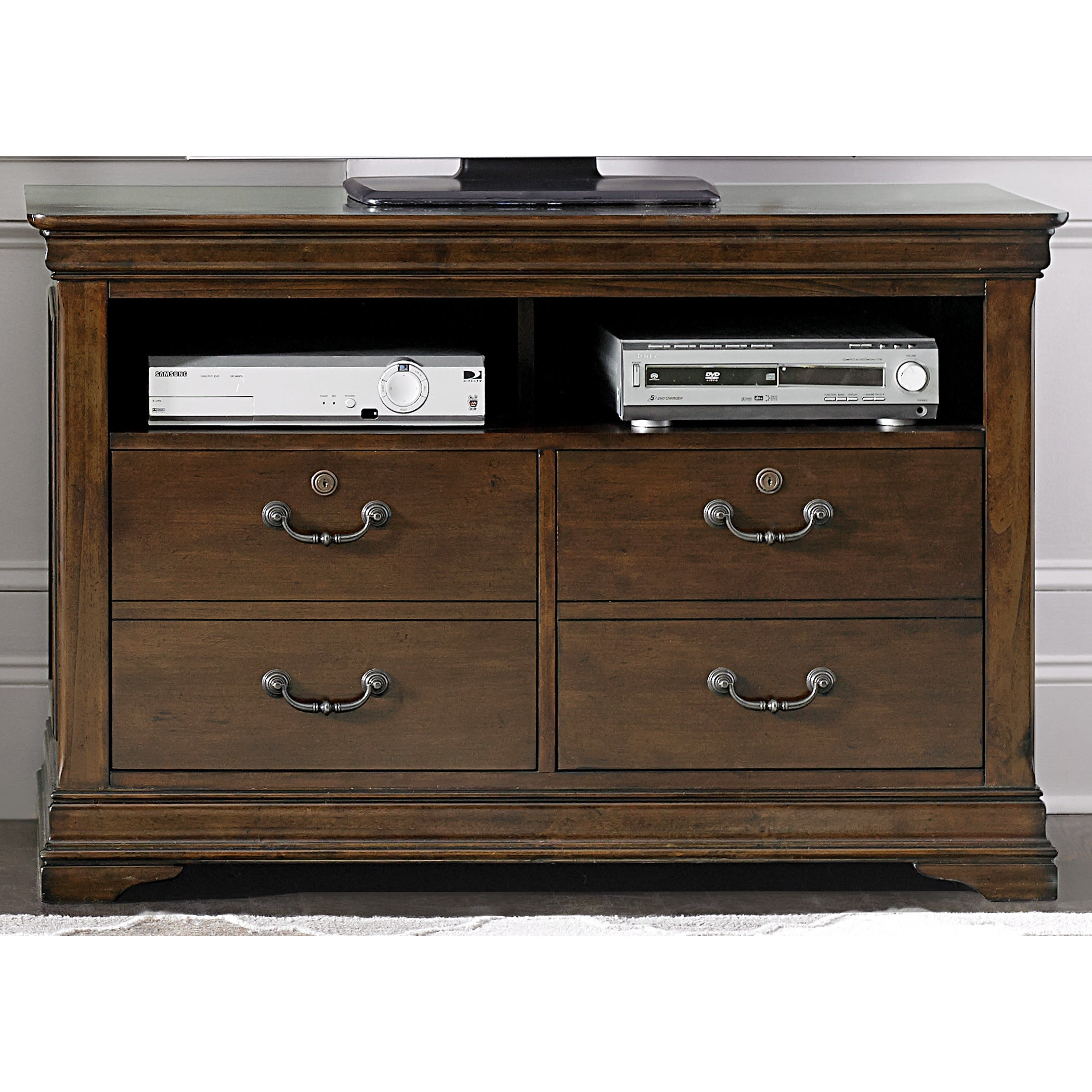 Shop Chateau Valley Brown Cherry Media File Cabinet   On Sale   Free  Shipping Today   Overstock   10669792
