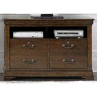 Chateau Valley Brown Cherry Media File Cabinet