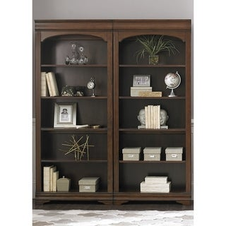 Chateau Valley Brown Cherry Bunching 5-Shelf Bookcase