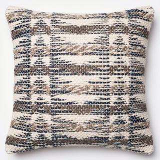 Woven Grey/ Multi 22-inch Throw Pillow or Pillow Cover