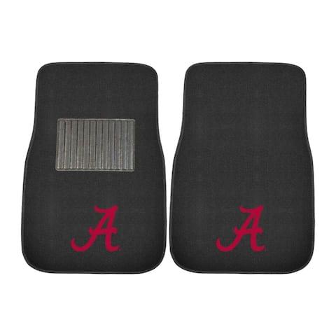 FANMATS University of Alabama 2-pc Embroidered Car Mat