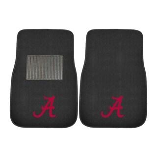 "Fanmats Alabama Crimson Tide 18""-27"" 2-piece Embroidered Car Mat Set"