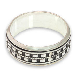 Handcrafted Men's Sterling Silver 'Long Journey' Ring (Indonesia)