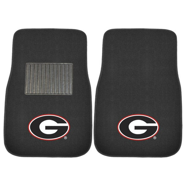 "Fanmats Georgia Bulldogs 18""-27"" 2-piece Embroidered Car Mat Set"
