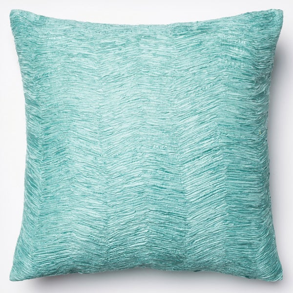 Domain Feather Filled Decorative Pillow : Textured Solid Chevron Down Feather or Polyester Filled 22-inch Throw Pillow or Pillow Cover ...