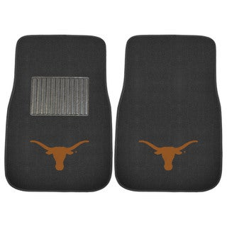 "Fanmats Texas Longhorns 18""-27"" 2-piece Embroidered Car Mat Set"