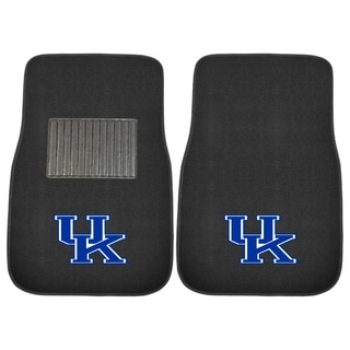 "Fanmats Kentucky Wildcats 18""-27"" 2-piece Embroidered Car Mat Set"
