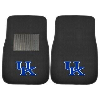 """Fanmats Kentucky Wildcats 18""""-27"""" 2-piece Embroidered Car Mat Set"""