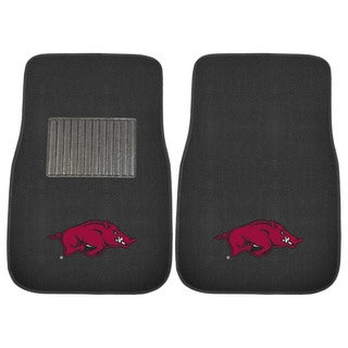 "Fanmats Arkansas Razorbacks 18""-27"" 2-piece Embroidered Car Mat Set"