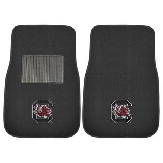 "Fanmats South Carolina Gamecocks 18""-27"" 2-piece Embroidered Car Mat Set"