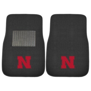 "Fanmats Nebraska Cornhuskers 18""-27"" 2-piece Embroidered Car Mat Set"