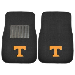"Fanmats Tennessee Volunteers 18""-27"" 2-piece Embroidered Car Mat Set"