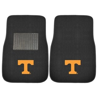 """Fanmats Tennessee Volunteers 18""""-27"""" 2-piece Embroidered Car Mat Set"""