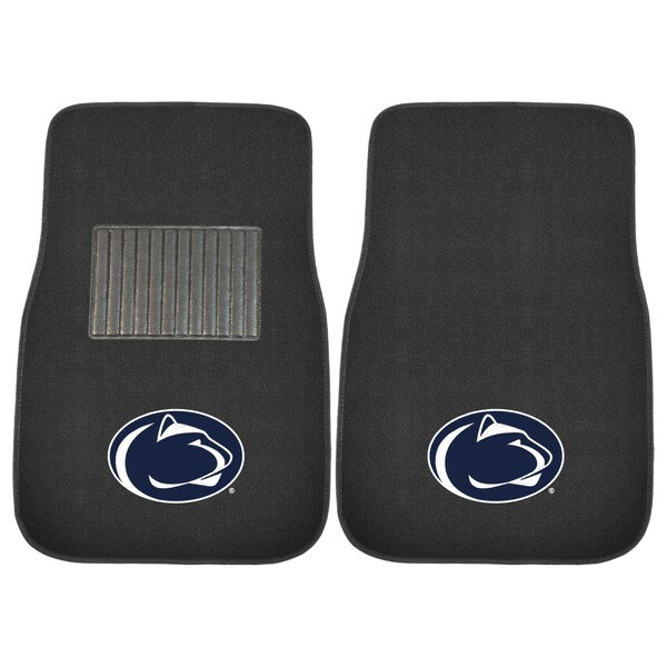 "Fanmats Penn State Nittany Lions 18""-27"" 2-piece Embroidered Car Mat Set"