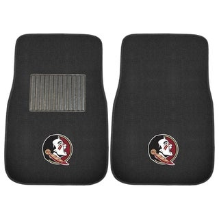 "Fanmats Florida State Seminoles 18""-27"" 2-piece Embroidered Car Mat Set"