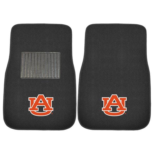 "Fanmats Auburn Tigers 18""-27"" 2-piece Embroidered Car Mat Set"