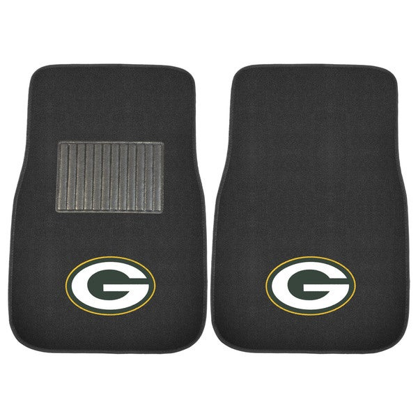 "Fanmats NFL Green Bay Packers 18""-27"" 2-piece Embroidered Car Mat Set"
