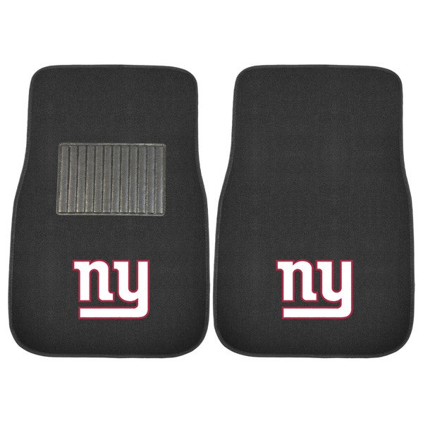 "Fanmats NFL New York Giants 18""-27"" 2-piece Embroidered Car Mat Set"