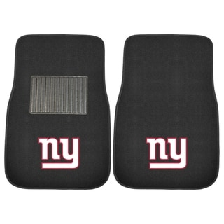 "Fanmats NFL New York Giants 18""-27"" 2-piece Embroidered Car Mat Set"
