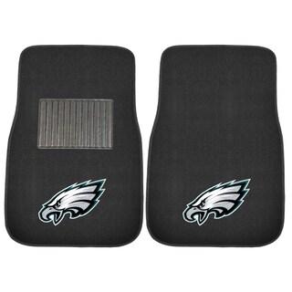 "Fanmats NFL Philadelphia Eagles 18""-27"" 2-piece Embroidered Car Mat Set"