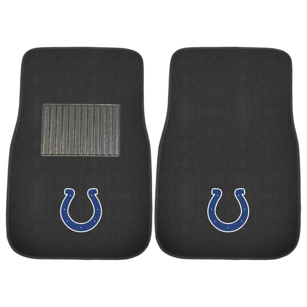"Fanmats NFL Indianapolis Colts 18""-27"" 2-piece Embroidered Car Mat Set"