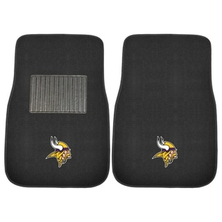"Fanmats NFL Minnesota Vikings 18""-27"" 2-piece Embroidered Car Mat Set"