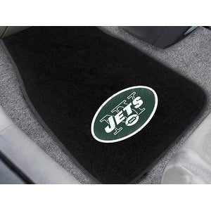 "Fanmats NFL New York Jets 18""-27"" 2-piece Embroidered Car Mat Set"