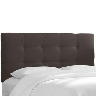Skyline Furniture Tufted Headboard in Linen Charcoal