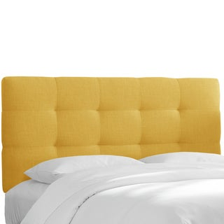 Skyline Furniture Tufted Headboard in Linen French Yellow
