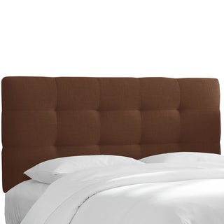 Skyline Furniture Tufted Headboard in Linen Chocolate