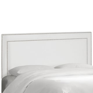 Skyline Furniture Nail Button Border Headboard in Premier White