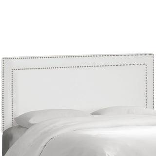 Skyline Furniture Nail Button Border Headboard in Premier White